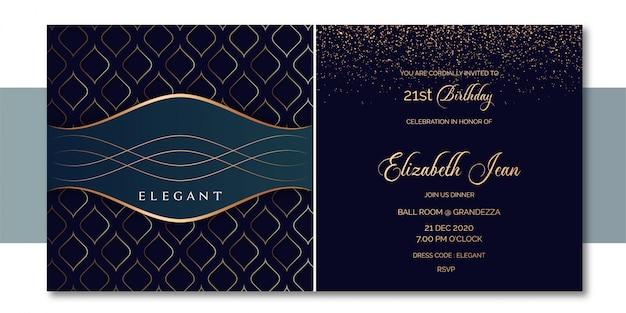 Элегантное приглашение в стиле сетки