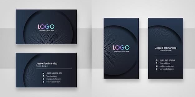 Элегантный темный изогнутый шаблон визитной карточки