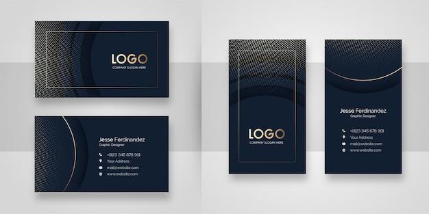 Современный округлой формы темный шаблон визитной карточки