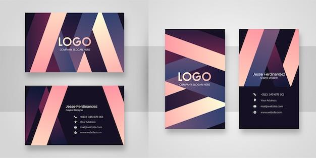 Многоцветный стильный шаблон визитной карточки