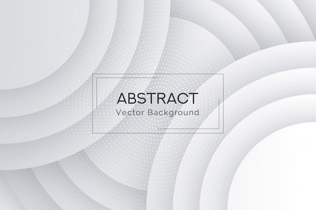 抽象的な白い丸い形のコレクションの背景
