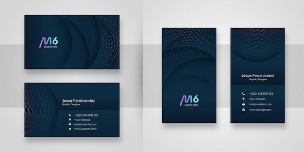 Абстрактный современный темно-синий шаблон визитной карточки