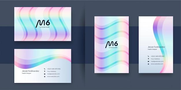 Шаблон визитной карточки в элегантном цвете радуга