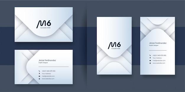 Профессиональный шаблон визитной карточки белого цвета
