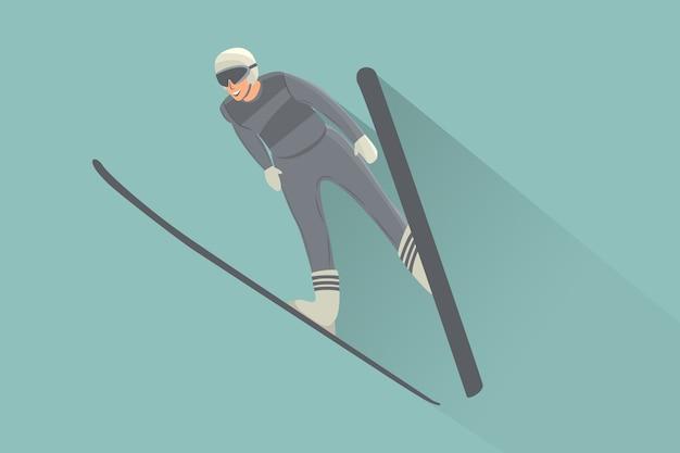 スキージャンプマン