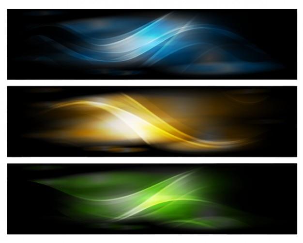 Абстрактный дизайн баннеров вектор фон