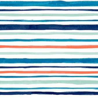 手塗りの水彩ベクトルのシームレスなパターン