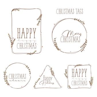 クリスマスの小さなタグ