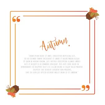 秋のフレームデザイン要素のテンプレートを引用