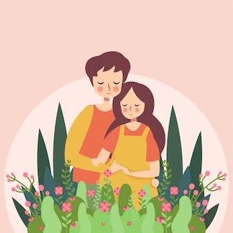 妊娠中の花