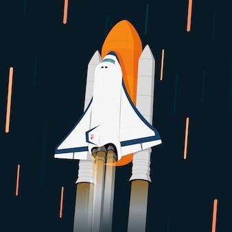 Космическая ракета векторная иллюстрация