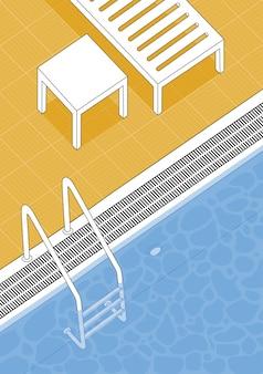 Летний бассейн векторная иллюстрация