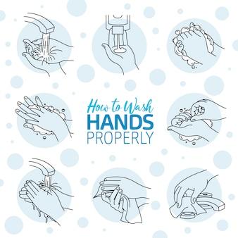 正しく手を洗う方法