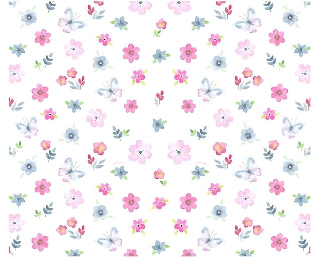 色とりどりの花のパターン