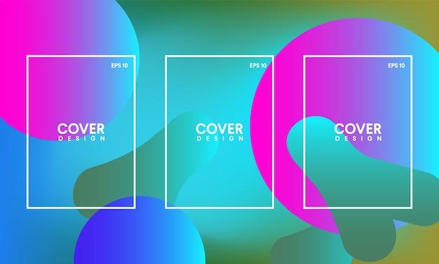 Шаблоны для абстрактных обложек, флаеров, баннеров и плакатов