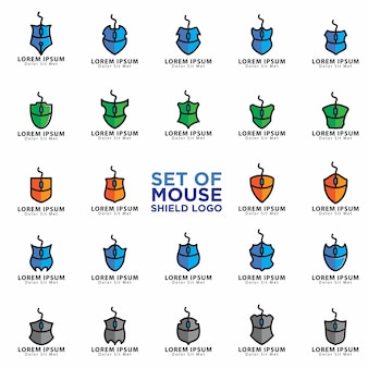 マウスのロゴのセット