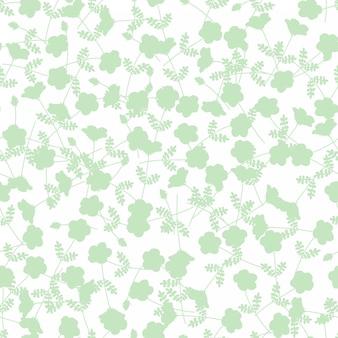 Зеленый цветок бесшовные