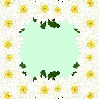 Цветочная рамка хризантемы