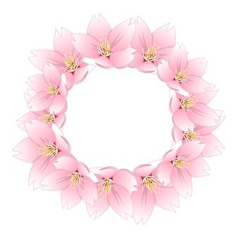 Сакура вишневый цветной венок