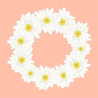 Белый хризантемы