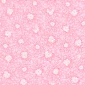 ピンクの菊のシームレスな背景