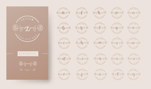 Женское цветочное письмо логотип шаблон