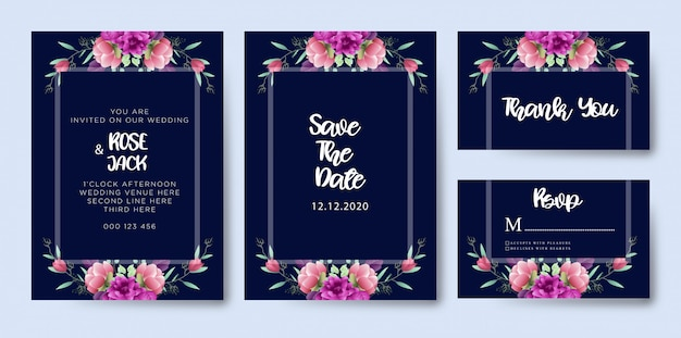 素敵な結婚式の招待状のテンプレート