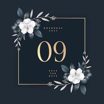 日付を保存エレガントな結婚式の招待状