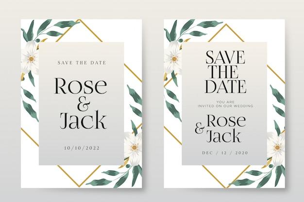 装飾品でエレガントな結婚式の招待状