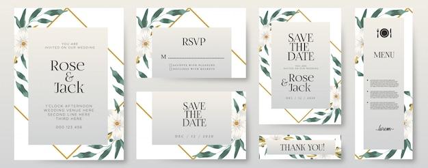 Элегантное свадебное приглашение с украшениями