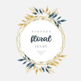 ヴィンテージ黄金の花のフレーム