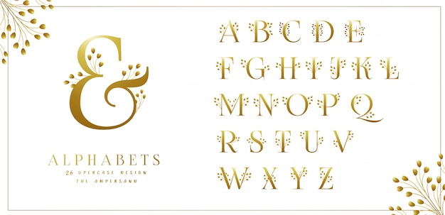 黄金の花アルファベットコレクション