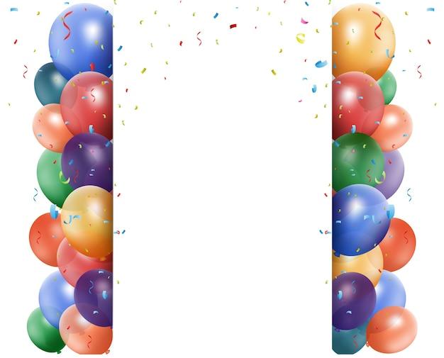 バルーンとリボンの誕生日お祝い