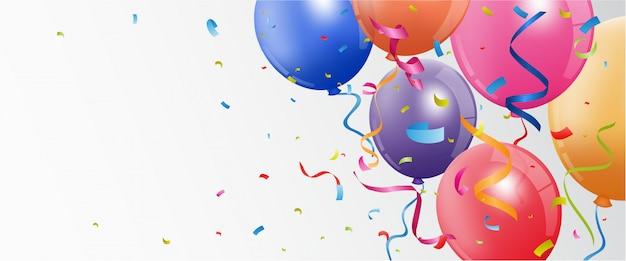 誕生日と祝賀バナー