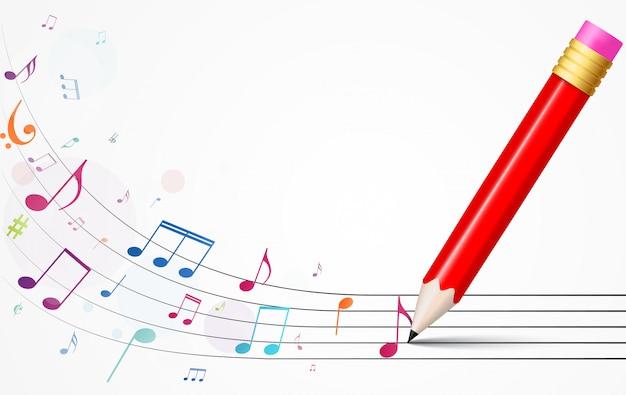 カラフルな音楽ノートの背景