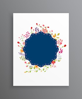 ビンテージの結婚式の花の招待状