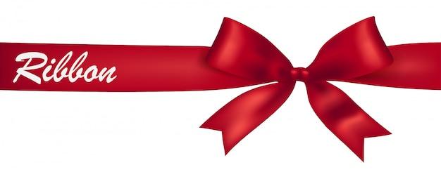 赤いリボンのバナーデザイン