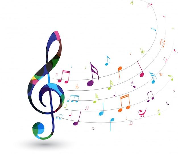 Красочные музыкальные ноты