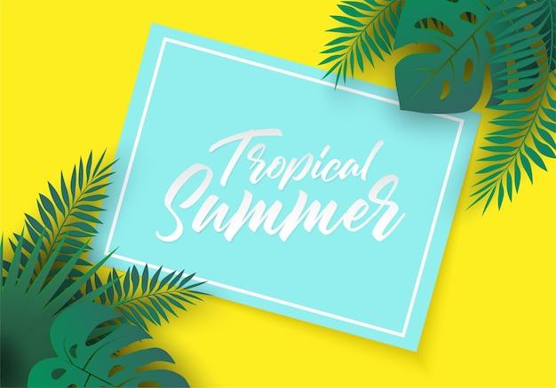 Тропический летний фон.