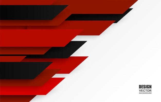 Красный и черный фон перекрытия.