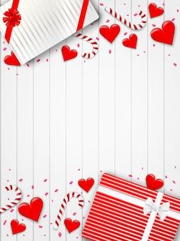 幸せなバレンタインデーの背景。