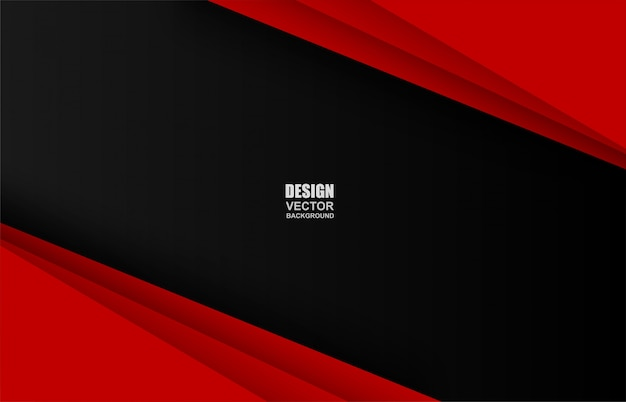 赤と黒の幾何学的なオーバーラップの背景