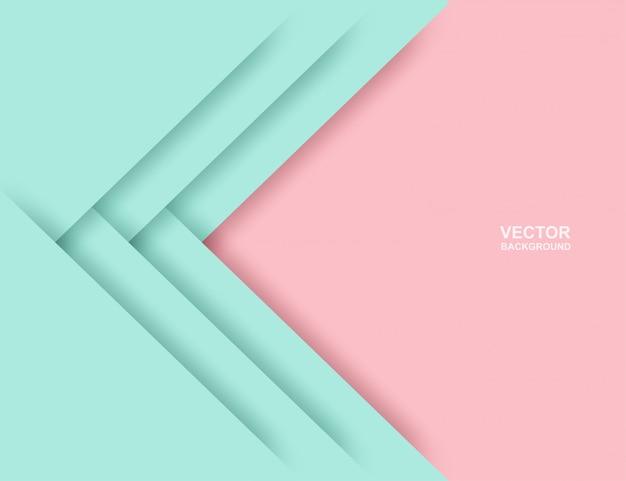 抽象。カラフルなパステルピンク、ミントグリーンの幾何学的形状は背景をオーバーラップします。