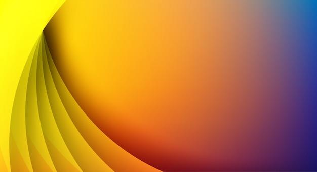 抽象。カラフルな幾何学的形状は背景を重複します。光と影。
