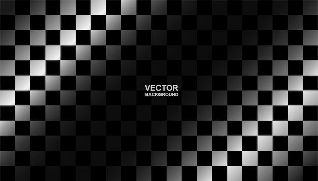 黒と白のチェッカーフラグの背景。