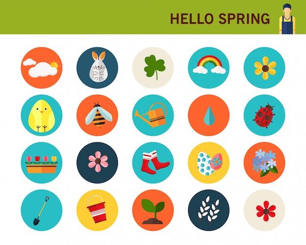 Счастливый фон весны концепции