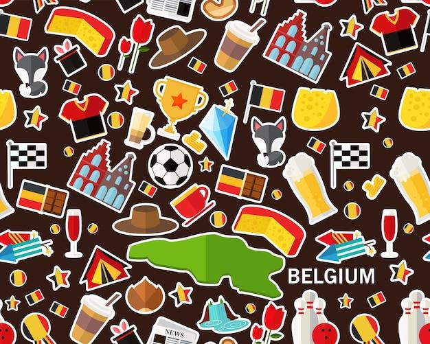 Векторные плоские бесшовные текстуры картины бельгия
