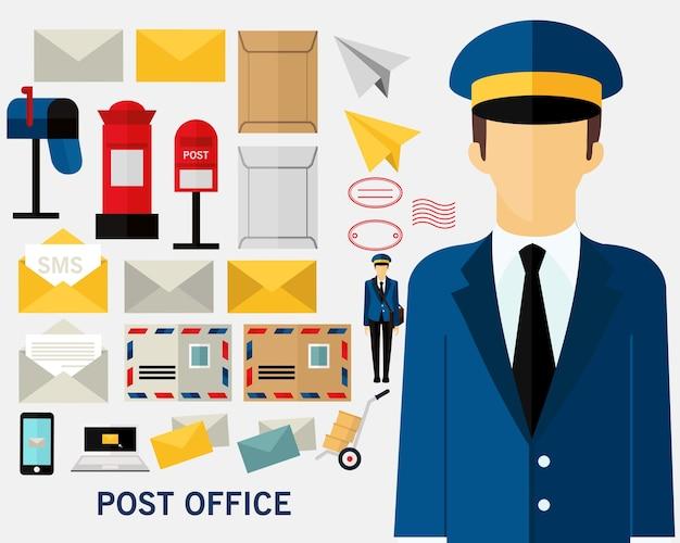 郵便局のコンセプト背景