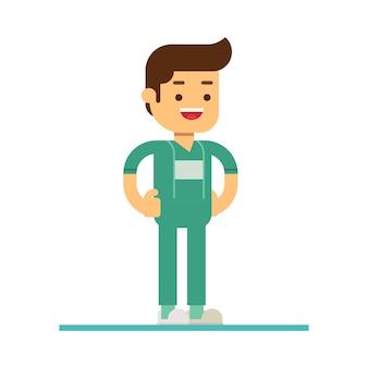 Значок персонажа персонажа. персонал дружественной стоматологической клиники