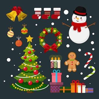 メリークリスマスと新年の花輪